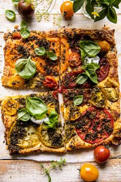 Roasted Tomato Cheddar Tart with Ranch Seasoning. - Half Baked Harvest Homemade Ranch Seasoning, Ranch Seasoning Mix, Savoury Pastry Recipe, Savoury Baking, Appetizer Salads, Yummy Appetizers, Veggie Recipes, Cooking Recipes, Puff Pastry Dough