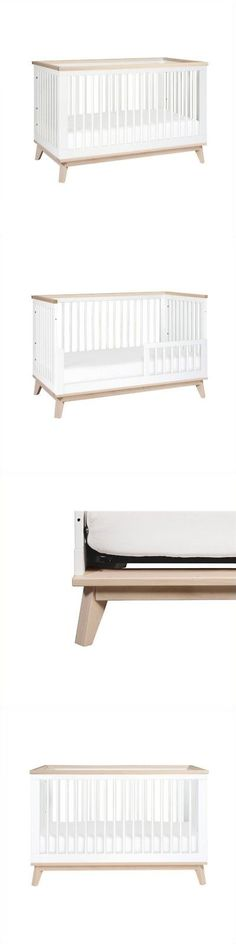 Cribs 2985: Babyletto Scoot 3-In-1 Convertible Crib In White And Washed Natural -> BUY IT NOW ONLY: $349.99 on eBay!
