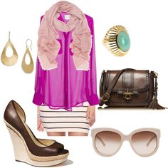 fuchsia, created by dr3k3n on Polyvore