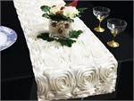 Wedding Favors, Centerpieces, Supplies, Tablecloths, Chair Covers - Wonderland Rosette Table Runners