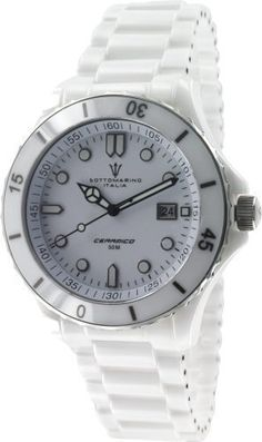 Ceramic Mens Sapphire Crystal White Dial by Sottomarino SM70010-E Sottomarino Italia. $199.00. Luminous Hands & Markers. Screw Down Crown. Rotating Bezel. Ceramic Case & Band. Date Window