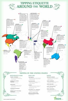Infographics on Tipping etiquette around the World.