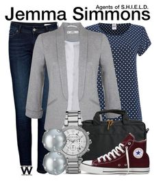 """""""Agents of S.H.I.E.L.D."""" by wearwhatyouwatch ❤ liked on Polyvore featuring Anine Bing, Vero Moda, Miss Selfridge, Herschel Supply Co., MICHAEL Michael Kors, Converse, Lauren Ralph Lauren, television and wearwhatyouwatch"""