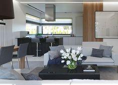 Projekt domu HomeKoncept-45 G2 118,49 m² - koszt budowy - EXTRADOM Gable House, Home Fashion, Bungalow, Dining Bench, House Plans, Pergola, Sweet Home, New Homes, House Styles
