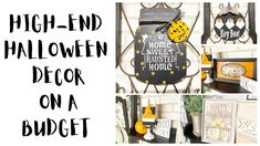 HIGH-END HALLOWEEN DECOR ON A BUDGET | DOLLAR TREE HALLOWEEN DECOR DIYS | HALLOWEEN DIYS - YouTube