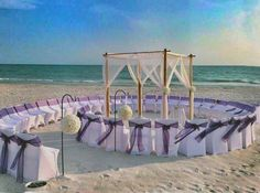 Not a bad seat in the house! Fun chair arrangement for a Charleston SC Beach Wedding. For shuttle service to and from the beach, call Carolina's Executive Limo Line today for a free quote 843.564.3456 http://www.celimoline.com