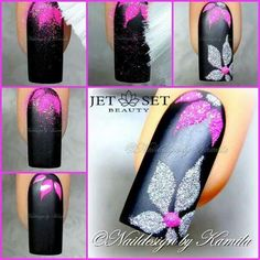 Nail art sugar effect tutorial