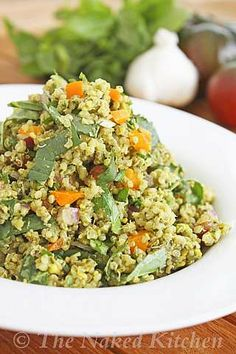 Pistachio Pesto Quinoa Salad Recipe