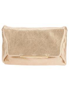 Lanvin metallic clutch bag #womens #gold-tone #metallic #leather #clutch #lanvin #love #wantering