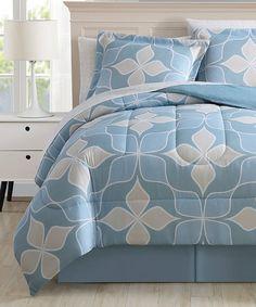 Look what I found on #zulily! Teal Bridgewater Eight-Piece Comforter Set #zulilyfinds