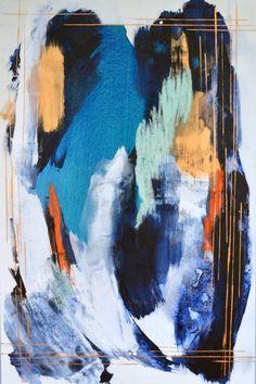 RESERVED abstractpainting original abstract art par MossAndBlue