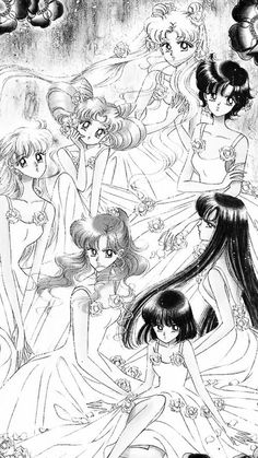 Bunny - Emi - Morea - Rei - Chibiusa - Ottavia - Marta Sailor Moon Aesthetic, Moon Illustration, Animation, Sailor Moon Crystal, Sailor Scouts, Picture Tattoos, Anime, Bunny, Geek Stuff