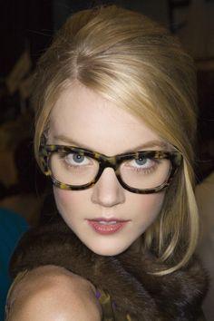 1b4057a7457 Lindsay Ellingson - w thick framed glasses -