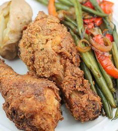 Oven Fried Buttermilk Chicken is tender and delicious. Better than take out chicken and will quickly become a favorite at your house!