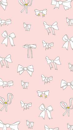 Blush pink white mini bows iphone phone wallpaper background lock screen