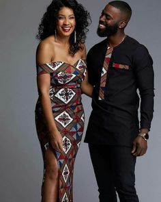 Dashiki Couples Outfit for Prom/Engagement Couples Outfit Couples African Outfits, African Shirts, African Fashion Ankara, Latest African Fashion Dresses, African Dresses For Women, African Print Fashion, African Dashiki, Africa Fashion, African Women