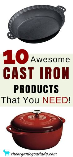 Gift Ideas, Cast Iron, Cast Iron Cookware, Cast Iron Products and Accessories