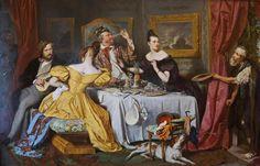 1836 Josef Danhauser - The Rich Glutton
