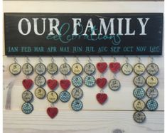 Family Birthday Board . Family Birthday von WonderfullyMadeDecor