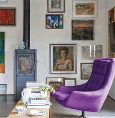 Farrow & Ball Farben für 2017 Radicchio, Studio Green, Hay & All White www. Colorful Interior Design, Purple Interior, Interior Design Tips, Home Interior, Interior And Exterior, Interior Ideas, Farrow Ball, Inspiration Wall, Interior Inspiration