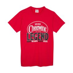 Stocking Stuffer - Cheerwine Legend Logo Tee in Red - Mast General Store