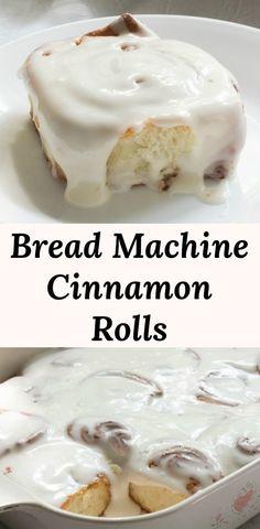 Easy Bread Machine Recipe for Cinnamon Rolls. Homemade cinnamon rolls aren't ha… Easy Bread Machine Recipe for Cinnamon Rolls. Homemade cinnamon rolls aren't hard to make when the breacd machine does all the work. Cinnamon Roll Icing, Cinnabon Cinnamon Rolls, Cinnamon Bun Recipe, Cinnamon Recipes, Easy Homemade Cinnamon Rolls, Easy Bread Machine Recipes, Best Bread Machine, Bread Maker Recipes, Cinnamon Bread Recipe For Bread Machine