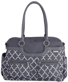 JJ Cole Satchel Diaper Bag - Stone Arbor - Best Price. This is the diaper bag I want. Mom liked it too :)