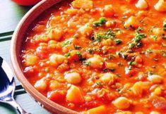 Eat Smarter, Grubs, Chana Masala, Soups And Stews, Cheeseburger Chowder, Chili, Vegetarian Recipes, Curry, Veggies