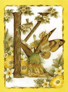 twopins uploaded this image to 'Alphabetical Garden Fairies'. See the album on Photobucket. Fantasy Kunst, Fantasy Art, Kobold, Alphabet Art, Flower Fairies, Illuminated Letters, Woodland Creatures, Fairy Art, Faeries