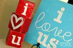 Custom made painted blocks for home decoration