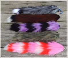 I am taking commissions for my custom yarn tails! Taking commissions for custom yarn tails! Werewolf Ears, Werewolf Costume, Cosplay Tutorial, Cosplay Diy, Cat Cosplay, Cosplay Outfits, Kitten Play Gear, Fursuit Tutorial, Wolf Tail
