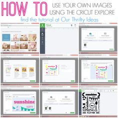 how to use your own images using the Cricut Explore machine