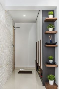 4 Marvelous Cool Tips: Rustic Floating Shelves Modern floating shelf design spaces.Floating Shelves Bedroom The Doors floating shelf laundry subway tiles. Foyer Decorating, Interior Decorating, Interior Design, Decorating Ideas, Decor Ideas, Narrow Hallway Decorating, 31 Ideas, Living Room Decor, Bedroom Decor