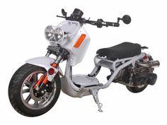 "SCO135+150cc+Scooter+MaddogGEN+IV+!+150cc+Honda+Ruckus+Clone+Scooter.+Automatic+Transmission,+Front+Disc/Rear+Drum+Brakes,+12""+Aluminum+Wheels,+Metallic+Paint,+Performance+Muffler+$1869.00"