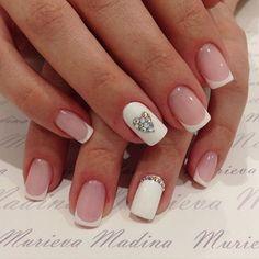 Дизайн ногтей френч с рисунком фото.