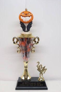 Halloween Trophy Costume Contest Winner Pumpkin Carving Contest Detailed Pumpkin Trophy Jack O Lantern Trophy Trunk or Treat Halloween Decor