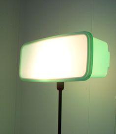 Mint Tupperware Lamp