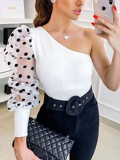 Barbara Silva, Top Chic, Sleeves Designs For Dresses, Fancy Tops, Crop Top Outfits, Casual Outfits, Weekend Wear, Looks Cool, Printed Blouse
