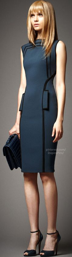 Gorgeous dress - love the simplicity and how it fits to the body - Elie Saab Women's Office #PurelyInspiration