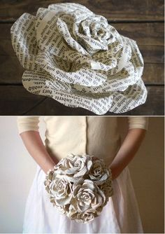 DIY wedding bouquet /// this is such a neat idea!