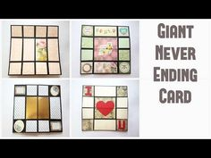 Giant Never Ending Card Tutorial by Srushti Patil (Valentines Special) Pop Up Cards, Cool Cards, Diy Cards, Fancy Fold Cards, Folded Cards, Infinity Card, Never Ending Card, Create Birthday Card, Giant Card