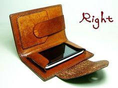Beautiful Green Leather iPhone Case w wallet-SR