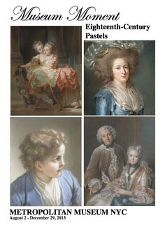 Gorgeous and masterful 18th century pastels at Metropolitan Museum