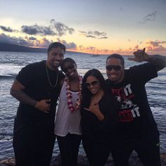 Jon Fatu, Trinity McCray, Josh Fatu, & Josh's girlfriend in Hawaii. The group was there in preparation for Jon & Trinity's upcoming wedding.