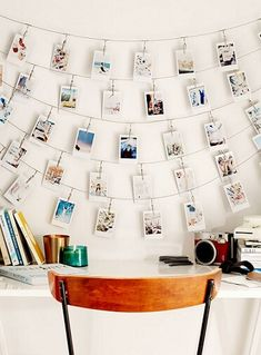 Create a photo wall without picture frames – Ideas and suggestions - New Decoration ideas Picture Wall, Picture Frames, Photo Wall, Beautiful Interior Design, Beautiful Interiors, Diy Home, Home Crafts, Diy Crafts, Photo String