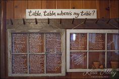 Wedding Seating Chart » Kara Abbey Photography
