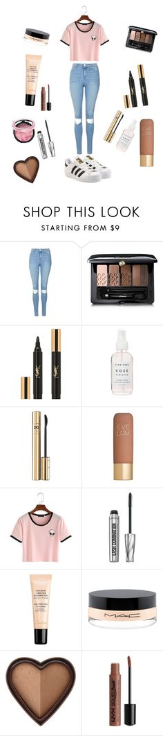 """""""Aliens"""" by luckydiva ❤ liked on Polyvore featuring Topshop, Guerlain, Yves Saint Laurent, Herbivore, D&G, Eve Lom, Bare Escentuals, MAC Cosmetics, Too Faced Cosmetics and adidas Originals"""