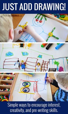 Just Add Drawing! - Three ideas for adding drawing to an activity to encourage interest, creativity and pre-writing skills