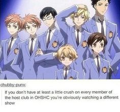 All but Tamaki... He's good looking yes xD, but I don't know, I just don't really like him