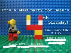 Lego Party invite (for a friend)